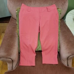 Adidas ClimaCool Pink Crop Pants Size 6